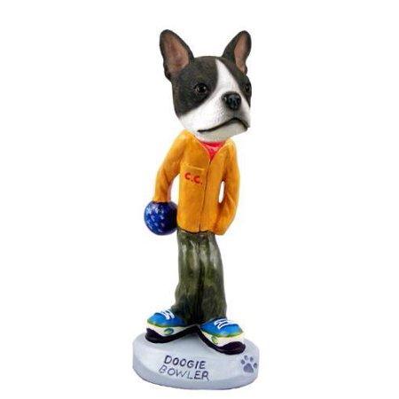 No.Doog1233 Boston Terrier Bowler Doogie Collectable Figurine