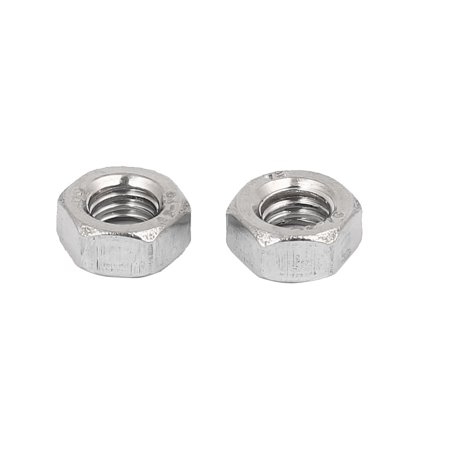304 Stainless Steel Finished Metric Hex Nut Silver Tone M6 20pcs - image 1 of 3