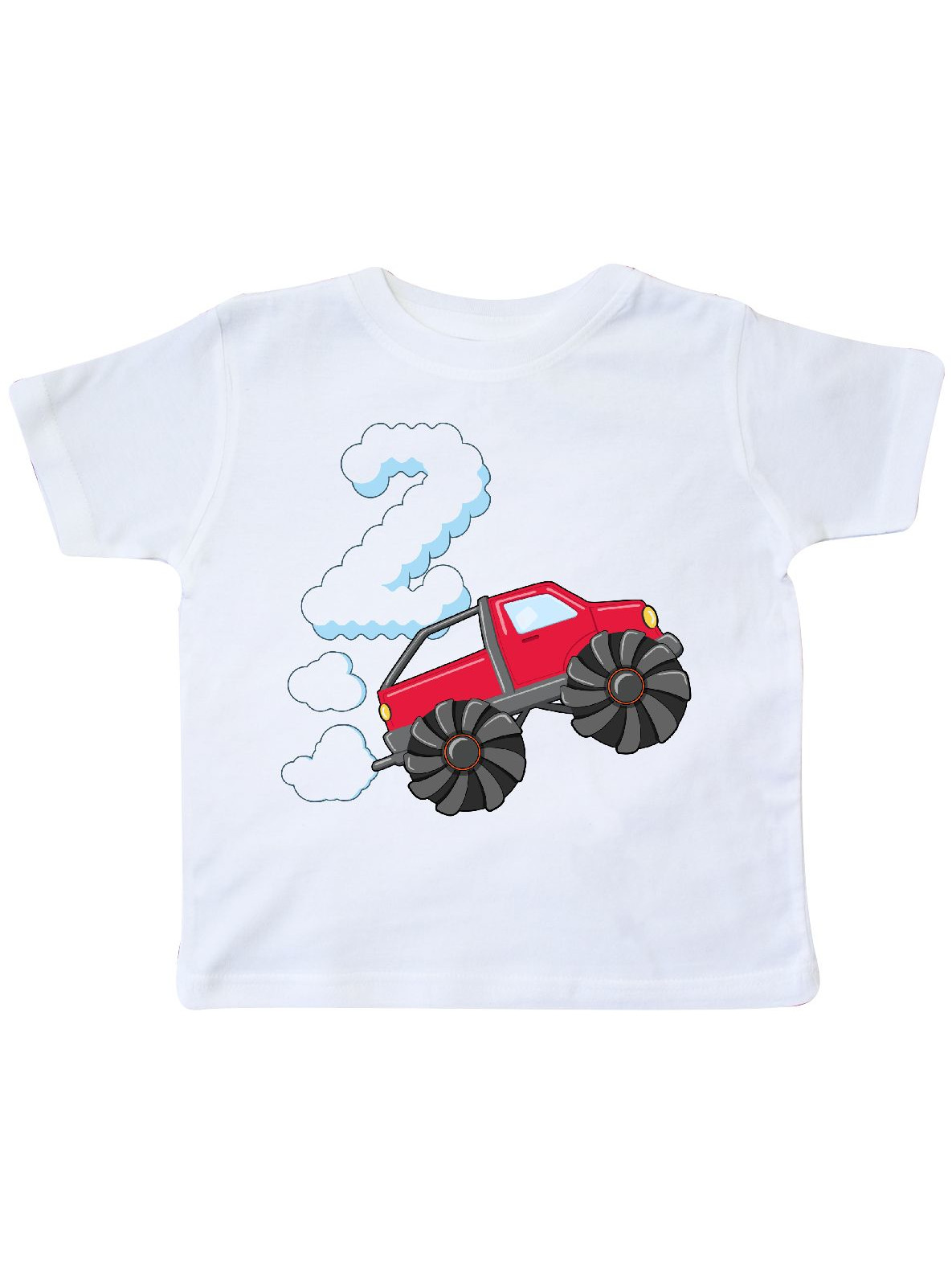 2nd Birthday Monster Truck Fun Toddler T Shirt