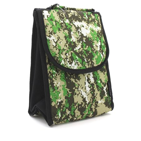 Insulated Light Green Digital Camouflage Lunch Bag ()