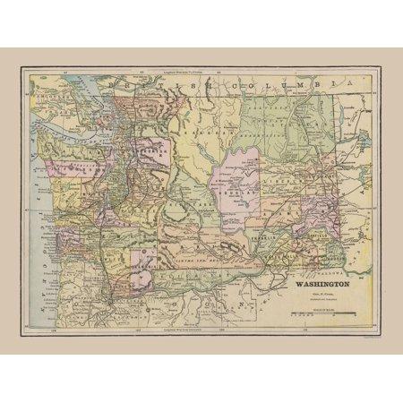 Old State Map - Washington - Cram 1892 - 30.14 x 23 on city of desoto missouri, city map of ozark mo, city map of creve coeur mo, city map of independence mo, fountain city road desoto mo, city road map of teanaway wa, map of imperial mo, city of hannibal mo map, city map of sedalia mo, city of washington pa, city map of columbia mo, city map of jefferson city mo, city of palmyra mo, city of warrenton mo map, city of caruthersville mo, city map of springfield mo, street map of columbia mo, map of university city mo, missouri city mo,