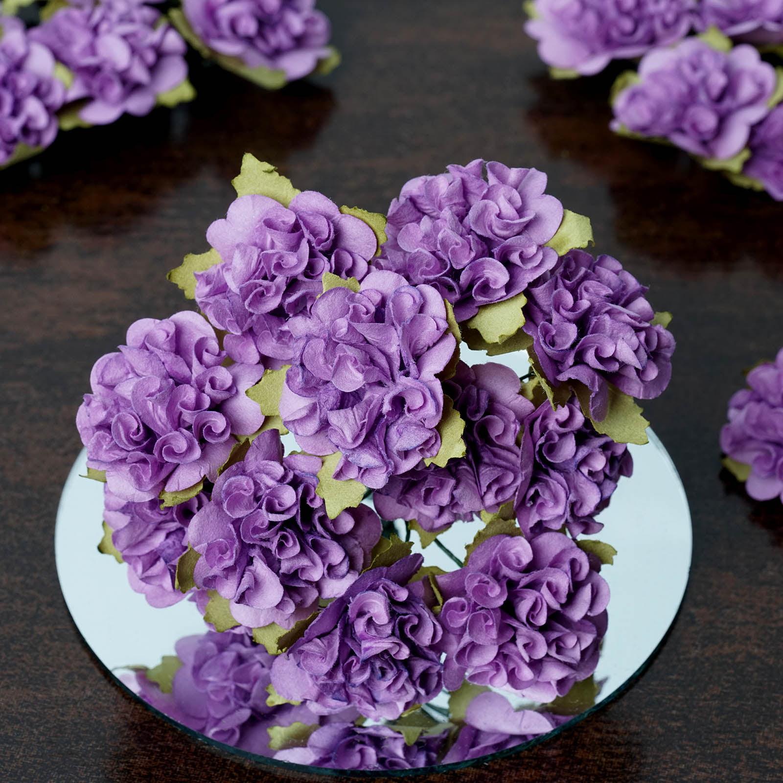 BalsaCircle 72 Mini Carnations Paper Craft Flowers