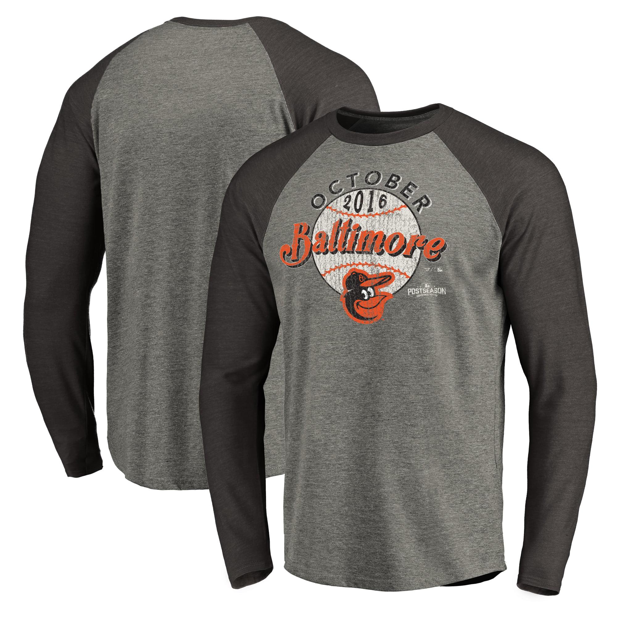 Baltimore Orioles 2016 Postseason Clutch Long Sleeve Raglan T-Shirt - Black