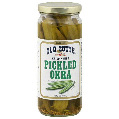 Old South Mild Pickled Okra, 16 oz (Pack of 6)