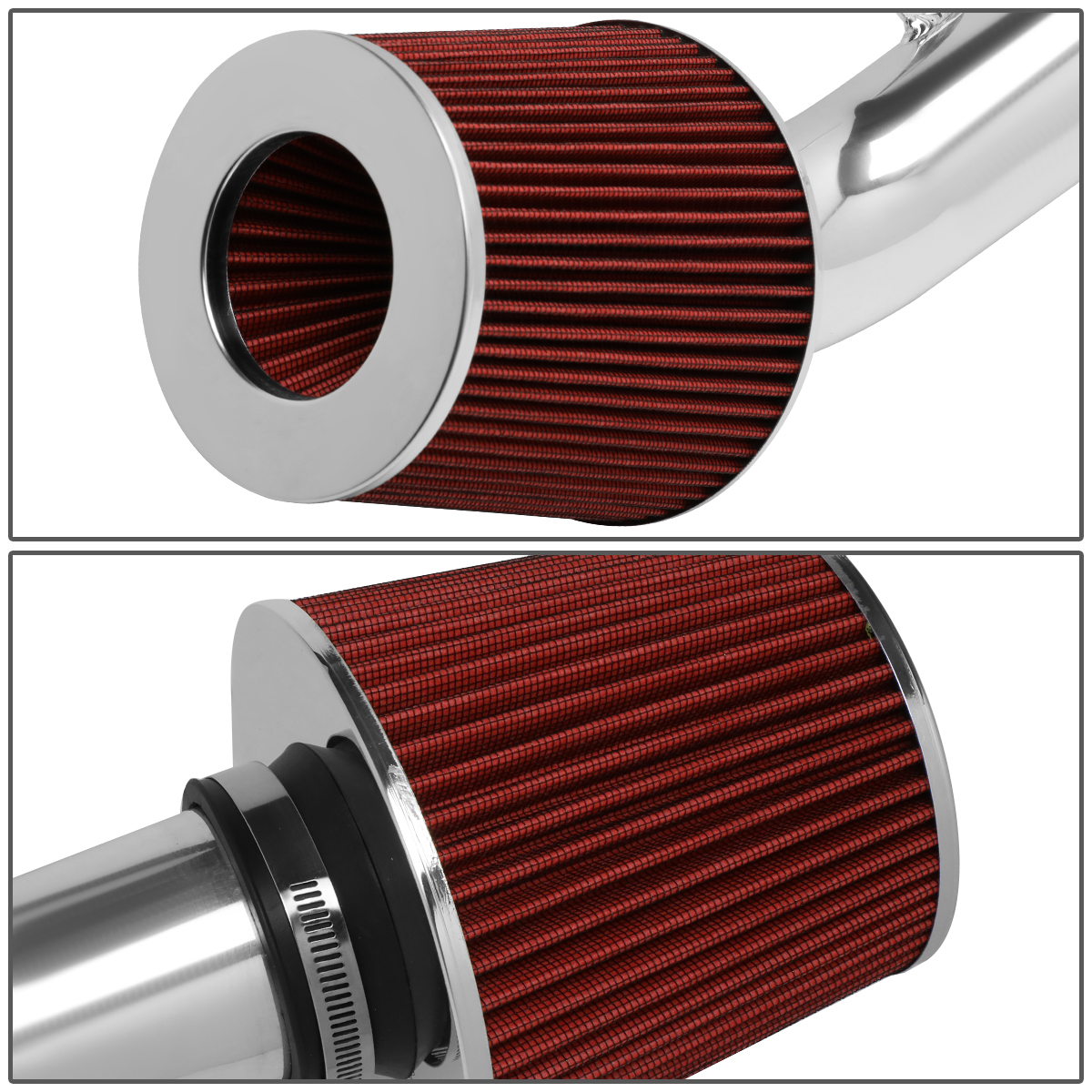 For Honda Civic 1.8L Engine Lightweight Aluminum Cold Air Intake System+Red Cone Filter