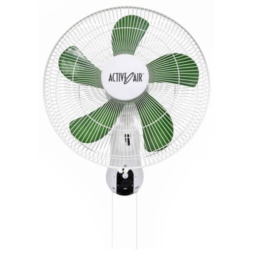 """HYDROFARM XFAN-16W 16"""" Active Air Wall Mount Oscillating Fan"""