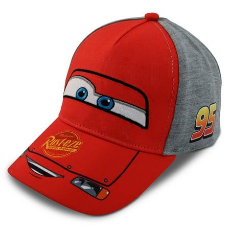 Disney Little Boys Cars Lightning McQueen Character Cotton Baseball Cap, Age - Lightning Mcqueen Clothes