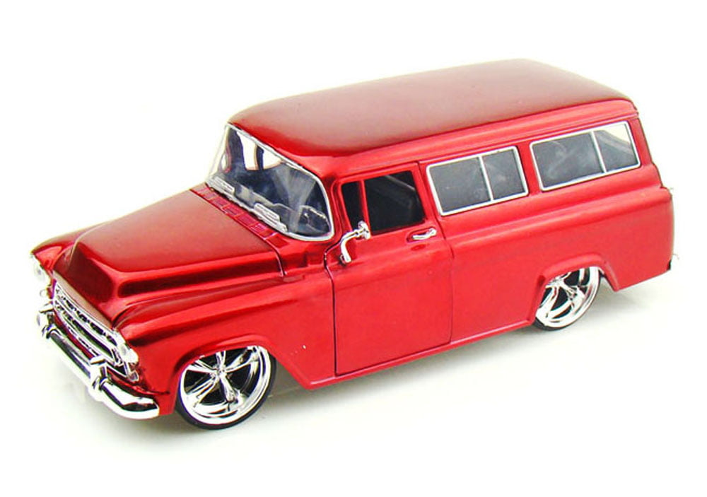 1957 Chevy Suburban, Red Jada Toys Bigtime Kustoms 50267 1 24 scale Diecast Model Toy Car... by Jada