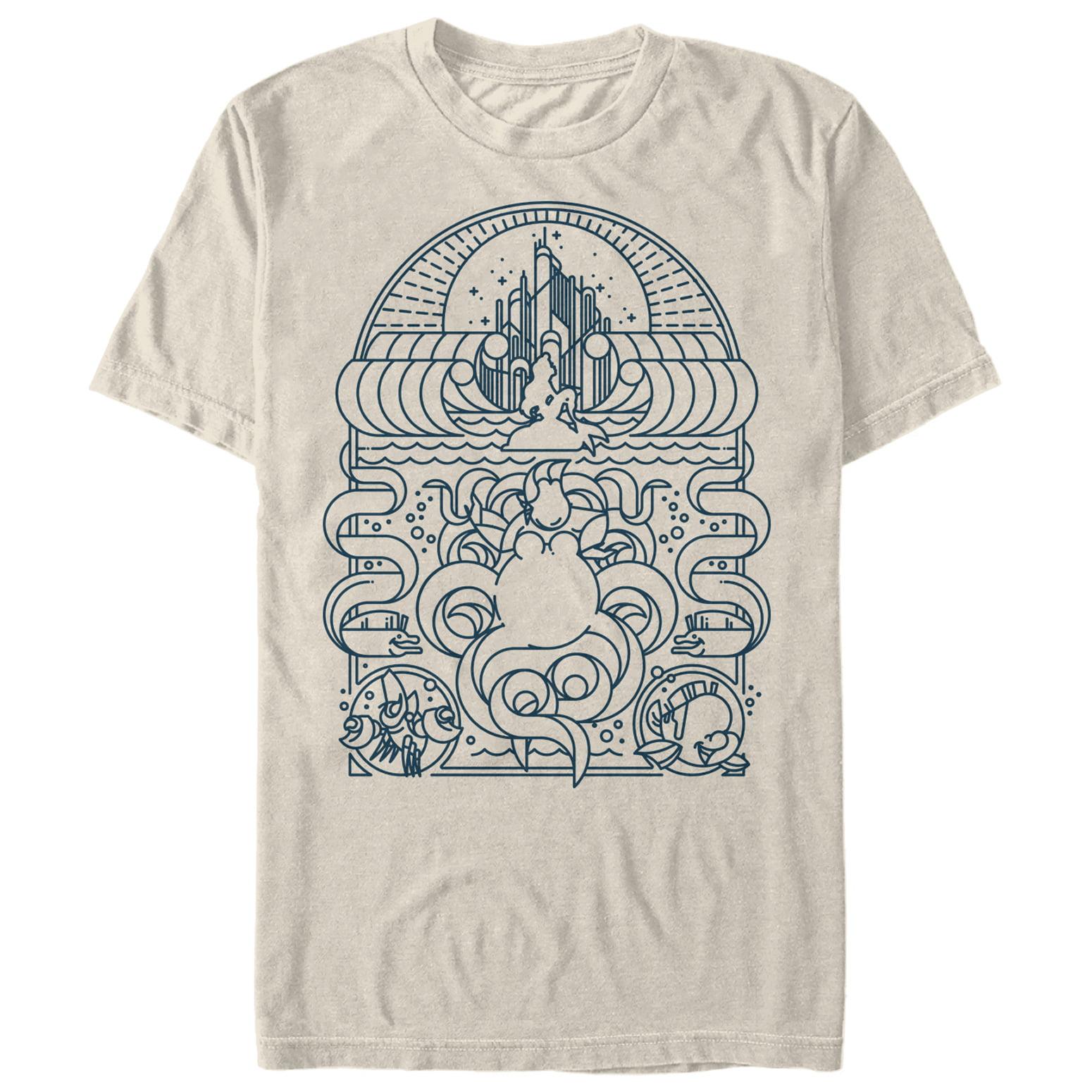 The Little Mermaid Men's Nautical Lines T-Shirt