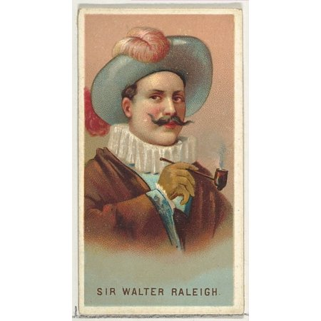 Sir Walter Raleigh from Worlds Smokers series (N33) for Allen & Ginter Cigarettes Poster Print (18 x