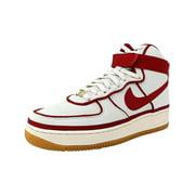 Nike Men's Air Force 1 High 07 Lv8 Sail / Gym Red-Black Ankle-High Fashion Sneaker - 9M