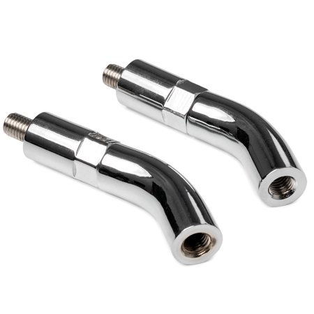 Krator Chrome Mirror Stem Extender 3 Inch Extension Set for 2004-2006 Harley Davidson Dyna Wide Glide EFI FXDWGI - image 2 of 3