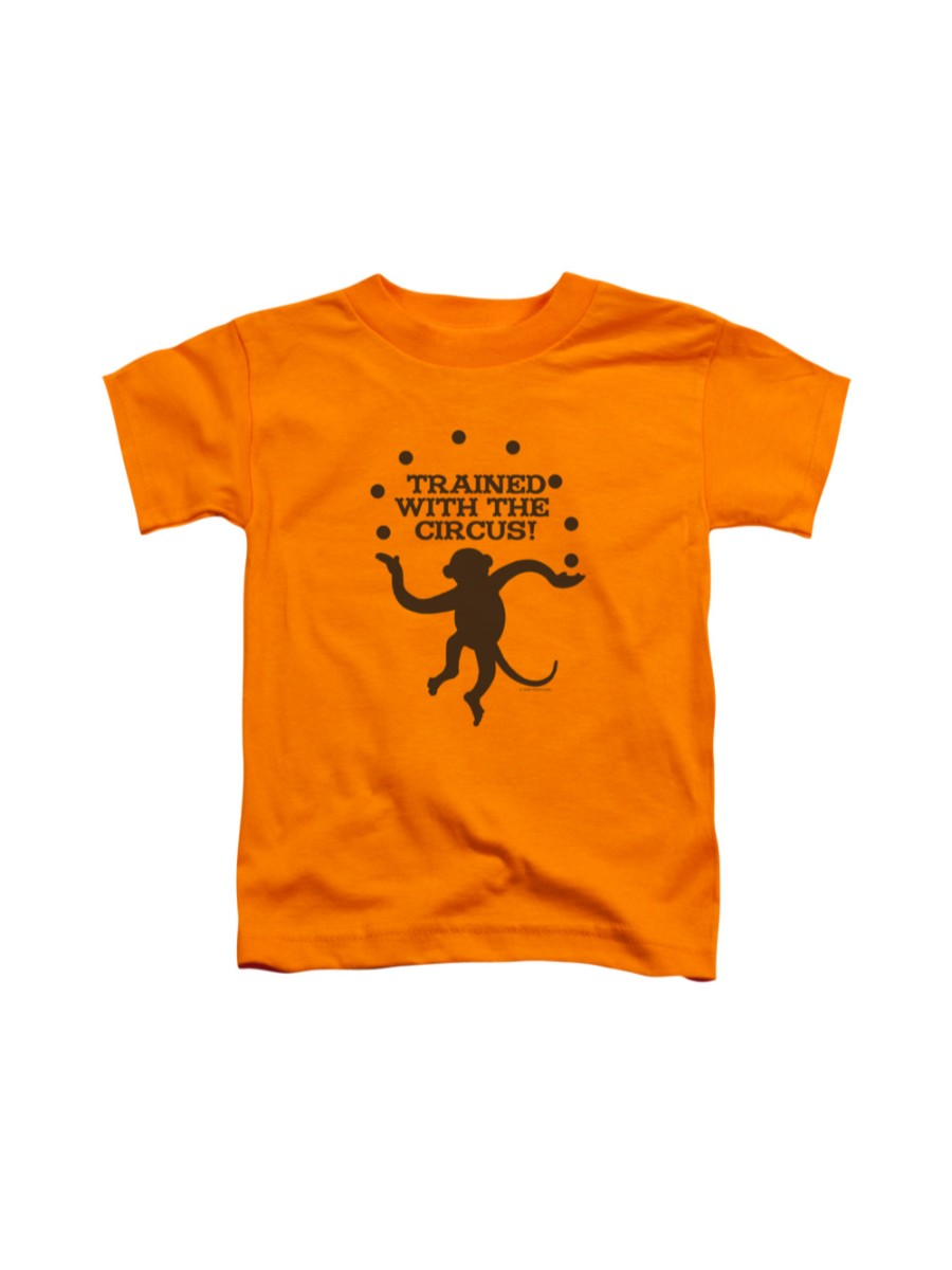 Trained With The Circus T-shirt Trevco Orange Kids Unisex 100% Cotton Short Sleeve