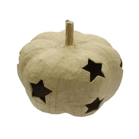Craft Ped Paper Mache Pumpkin w/Stars Lg Kraft](Paper Mache Halloween Pumpkins)