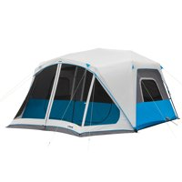 Core Equipment 14' x 10' Lighted Instant Cabin Tent with Screen Room, Sleep 10