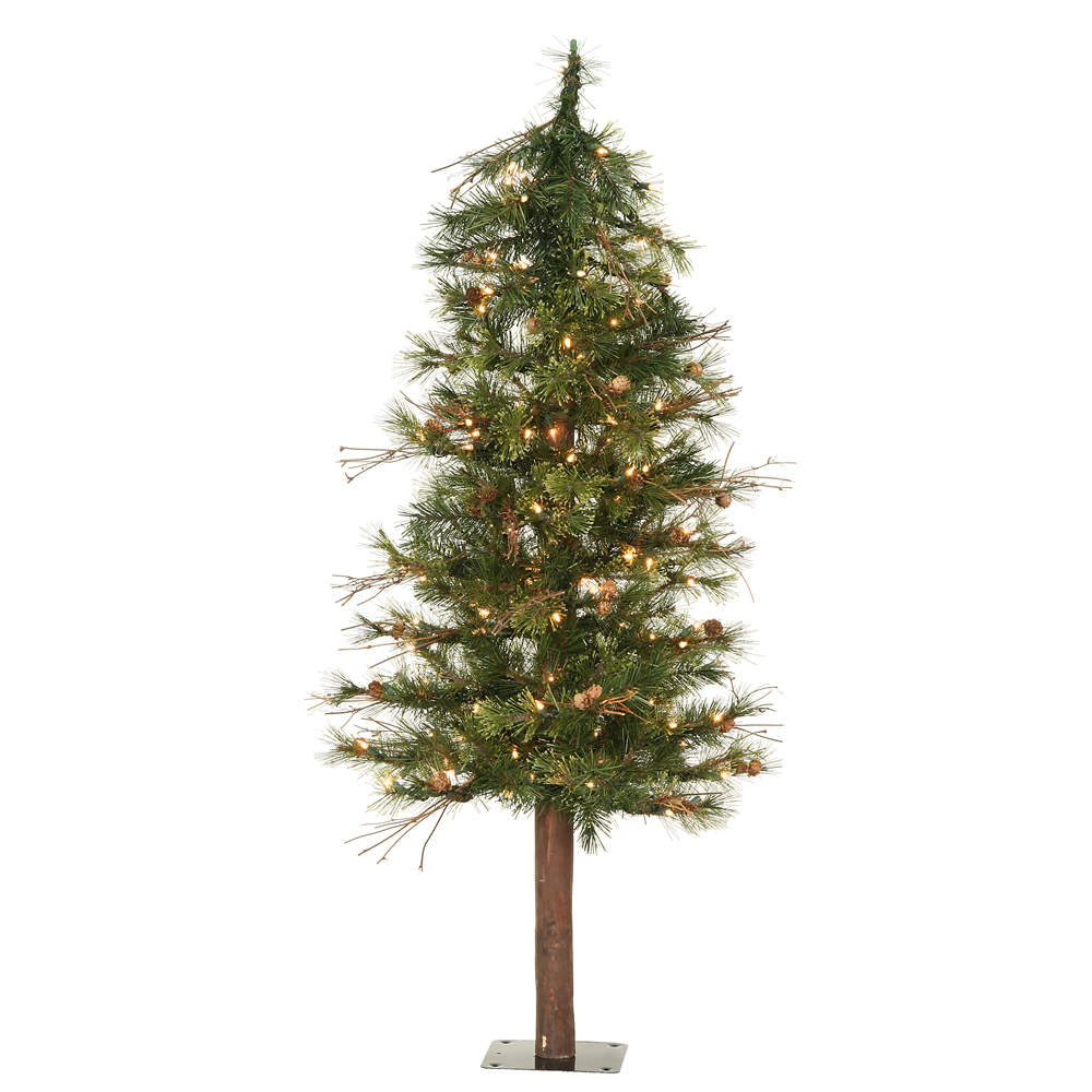 7' Mixed Country Alpine Tree 250 Clear Lights 646 Tips