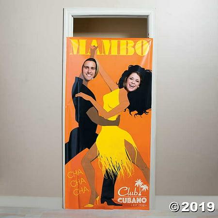 Cuban Couple Photo Door Banner - Door Banners