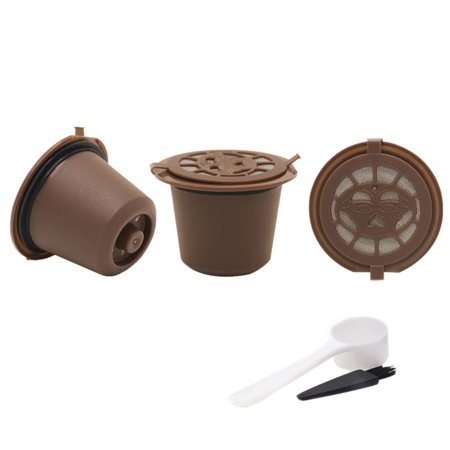3Pcs Reusable Refillable Coffee Filter Pod For Nespresso Machines Spoon Set (Coffee Filter Holder 2)