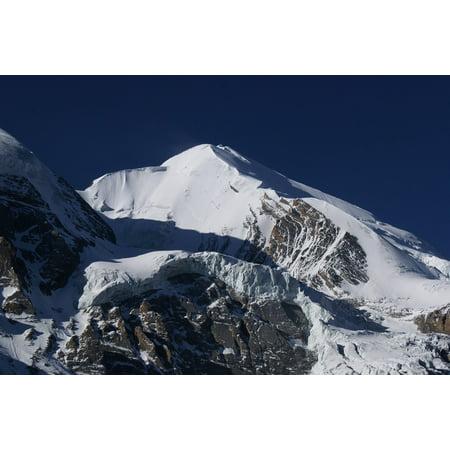 Canvas Print Snow Mountains Glacier Nepal High Mountains Stretched Canvas 10 x 14 (Glacier Snow)