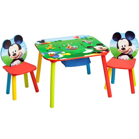 Disney mickey mouse storage table and chairs set - Set table enfant ...