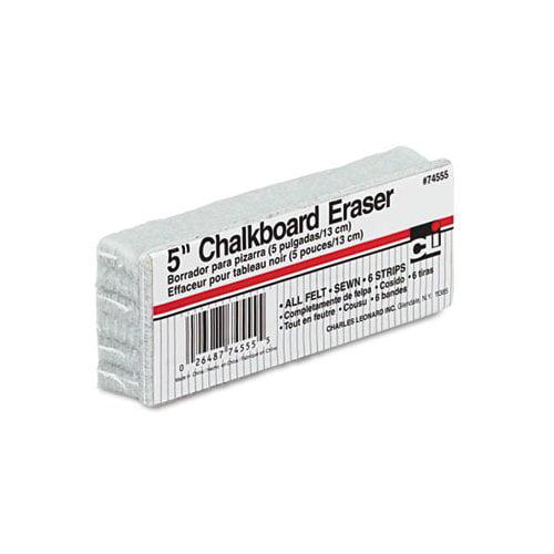 Charles Leonard Co. 5-Inch Chalkboard Eraser, Wool Felt