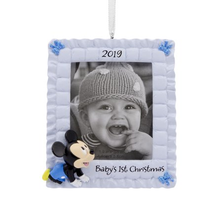Hallmark Disney's 2019 Mickey Mouse Baby's 1st Christmas Christmas Ornaments (Hallmark Ornament First Christmas)