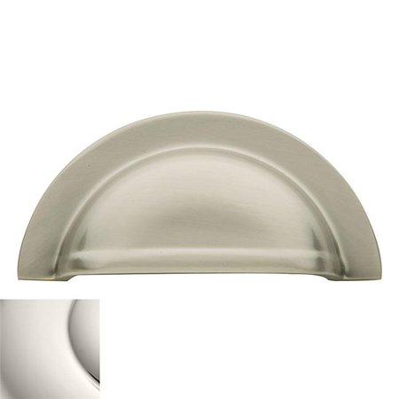Baldwin 4423140 3 in. Cup Cabinet Pull, Polished Nickel - image 1 of 1