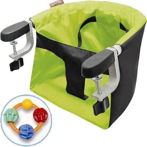 Mountain Buggy Pod Clip-on High Chair with Click Clack Balls Teether -  Lime