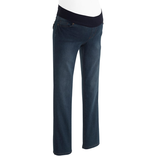 Planet Motherhood Maternity Demi-Panel Bootcut Jeans with Flap Back Pockets