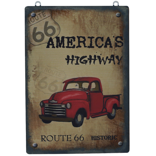 Attraction Design Home ''Route 66 America's Highway'' Antique Wisdom Sign Wall D cor