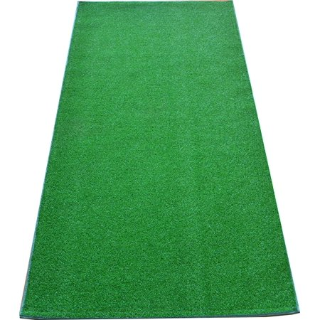 Dean Premium Heavy Duty Indoor/Outdoor Green Artificial Grass Turf Carpet Runner Rug/Putting Green/Dog Mat, Size: 3' x 12' with Bound