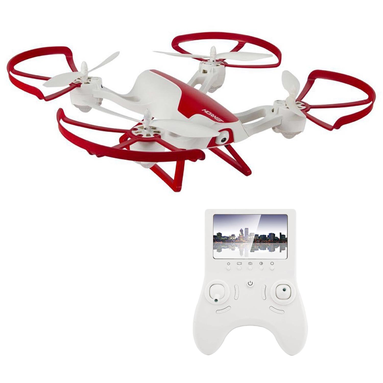 Hornet FPV Drone with HD Camera 720p - RC Quadcopter with Altitude hold (Includes Extra Batteries)