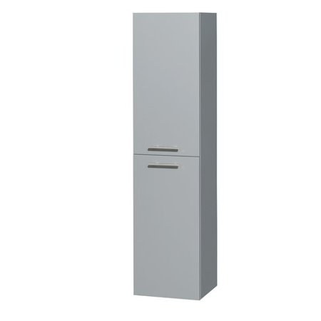 Amare Wall - Wyndham Collection Amare Wall-Mounted Bathroom Storage Cabinet in Dove Gray (Two-Door)