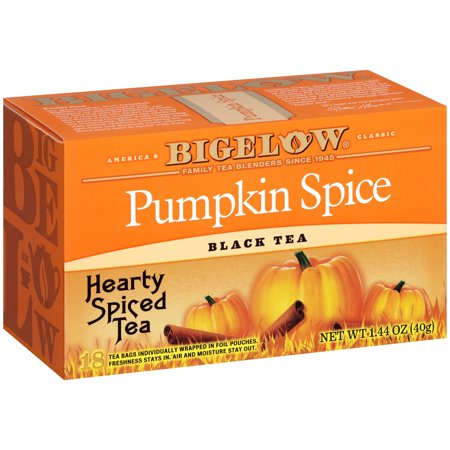 (3 Boxes) Bigelow Pumpkin Spice Black Tea 1.44 oz. Box (New England Pumpkin Spice)