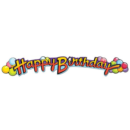 club pack of 12 multi colored happy birthday streamer party decorations