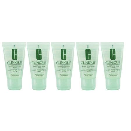 Clinique Liquid Facial Soap Mild - Dry/Combination Skin 5oz (5 x 1oz/30ml each) Clinique Liquid Facial Soap Mild