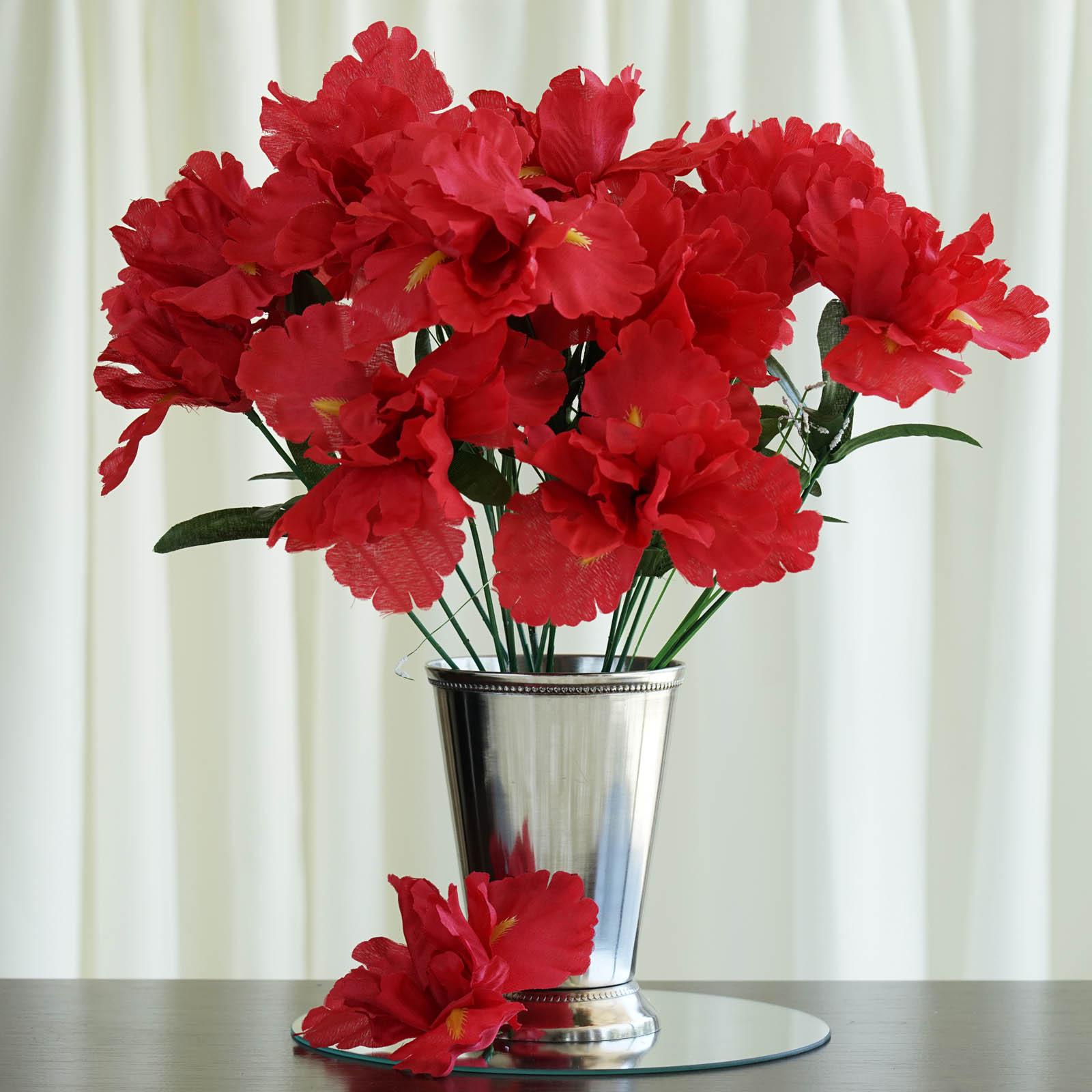 Efavormart 60 pcs Artificial IRIS Flowers for DIY Wedding Bouquet Centerpieces Arrangements Baby Shower Home Decoration - 12 bushes