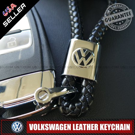 Alloy Metal Main Rotor - Volkswagen Car Logo Emblem Key Chain Metal Alloy Leather Gift Decoration Accessories