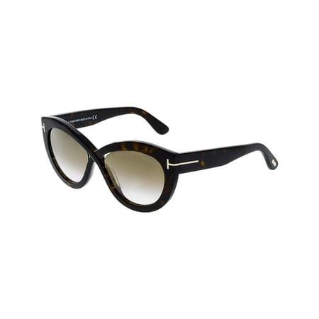Tom Ford Women's Gradient Diane-02 FT0577-52G-56 Brown Cat Eye (Tom Ford Cat Eye Prescription Glasses)