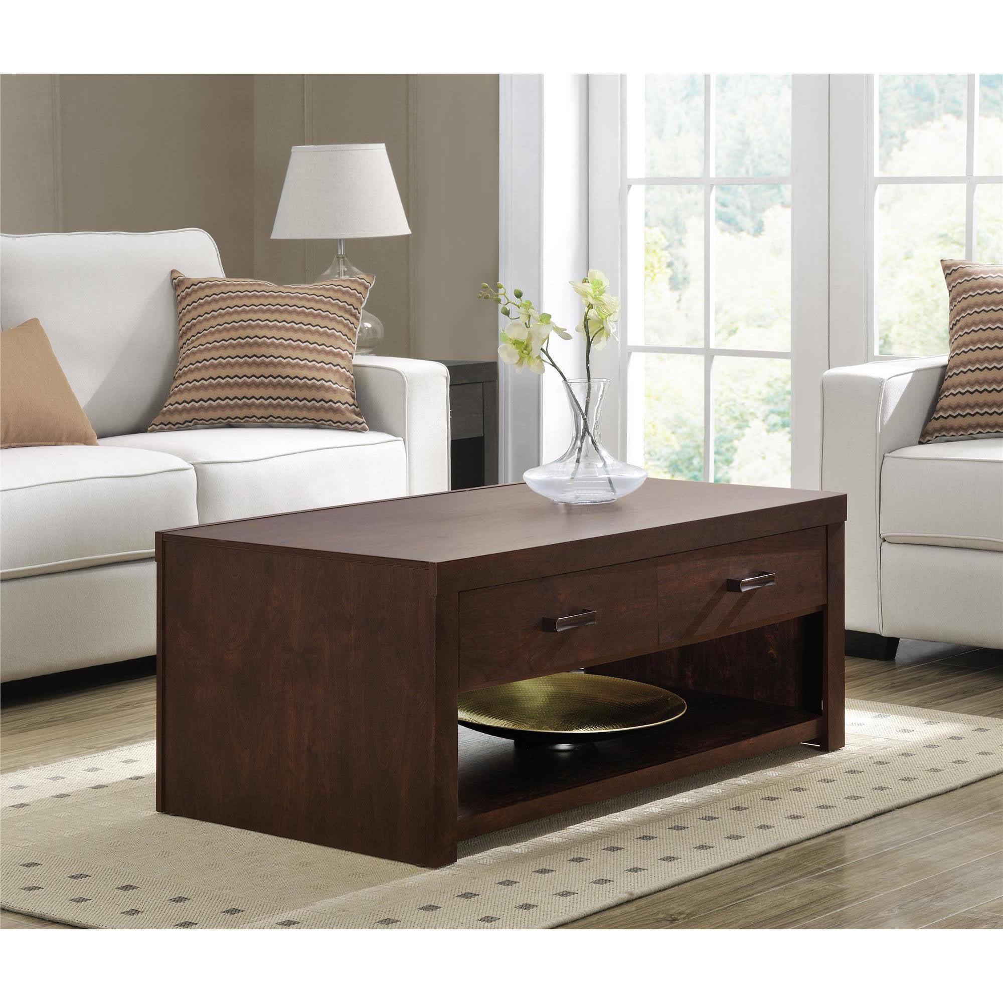 Altra Westbrook Coffee Table, Dark Walnut by Ameriwood
