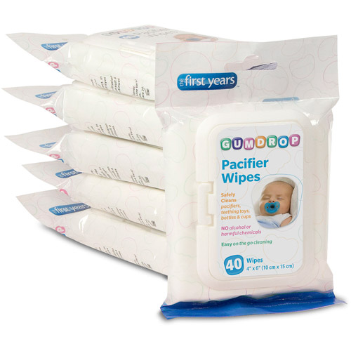 The First Years GumDrop Pacifier Wipes, 40 ct.