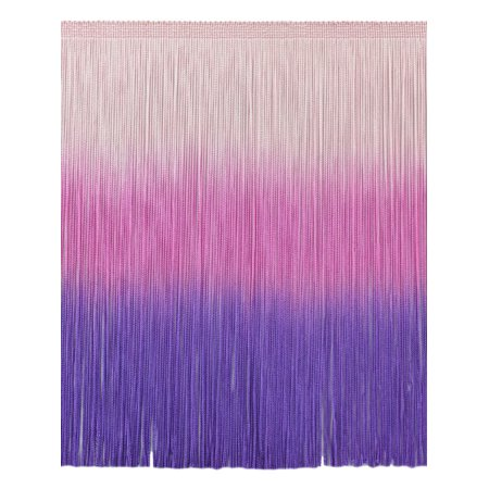 12 Inch Dip Dyed Chainette Fringe Trim, Style# CF12 Color: Tie Dye Pink - TDP, Sold By the Yard