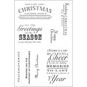 """Woodware Clear Stamps 4""""X6"""" Sheet-Heartfelt Christmas Wish"""