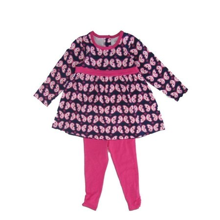 Toddler Boutiques Online (Little Me Little Girls Pink Butterfly Print Long Sleeve Set)
