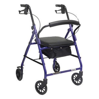 Value Rollator with Loop Brakes: Red - 1 Each / Each