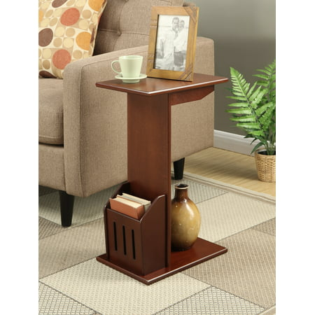 Mahogany Corner Table (Convenience Concepts Designs2Go Abby Magazine C End Table)