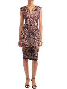 Women's Midi Scuba Dress