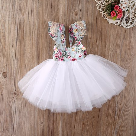 Beautiful Girls Dresses Gowns (Newborn Dress Fashion Toddler Baby Girls Floral Dress Party Ball Gown Formal Dresses)