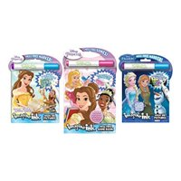 Bundle of 3 Imagine Ink Activity Books - Princess featuring Belle and Frozen Magic Pictures, Princess Mess Free Game Book