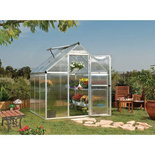 Palram Mythos 6' x 8' Greenhouse, Forest Green by Palram